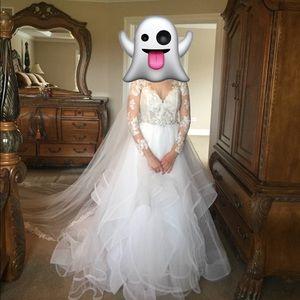 HAYLEY PAIGE 2015 WEDDING GOWN CUSTOM CRYSTAL BELT